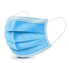 Three-ply surgical face mask